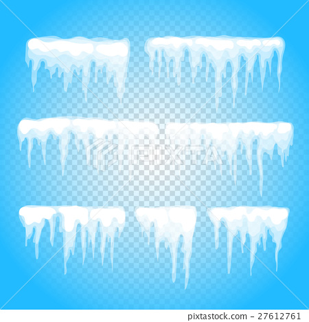 450x468 Vector Icicle And Snow Elements Clipart