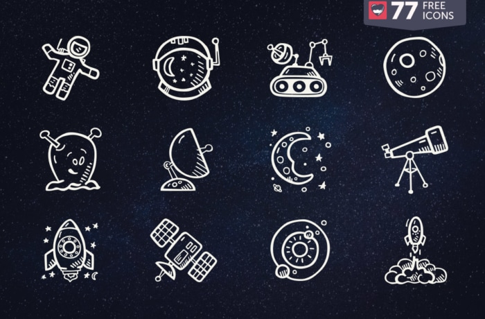700x460 Free Vector Icons And Icon Packs In Cute Hand Drawn Style