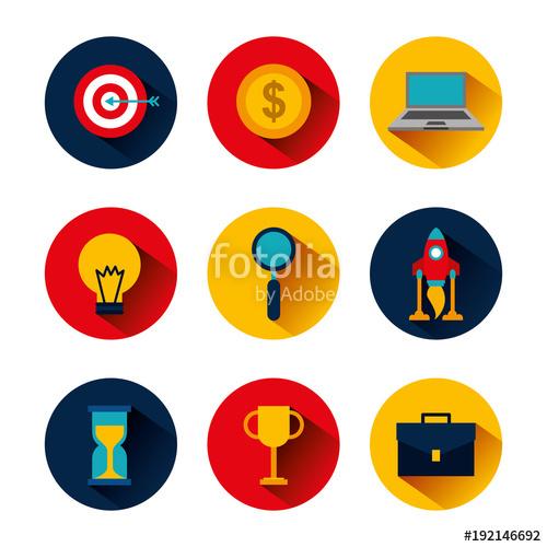 500x500 Collection Icons Business Idea Money Clock Trophy Laptop Target