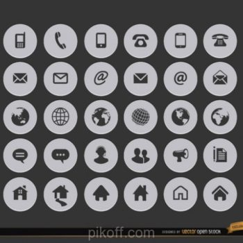 350x350 Contact Icon Design Free Download
