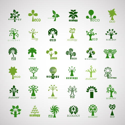 500x500 Creative Ecology Tree Icons Vector Plant Icons Free Download