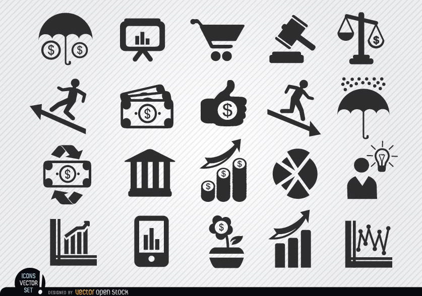 837x588 Economic Icons Set