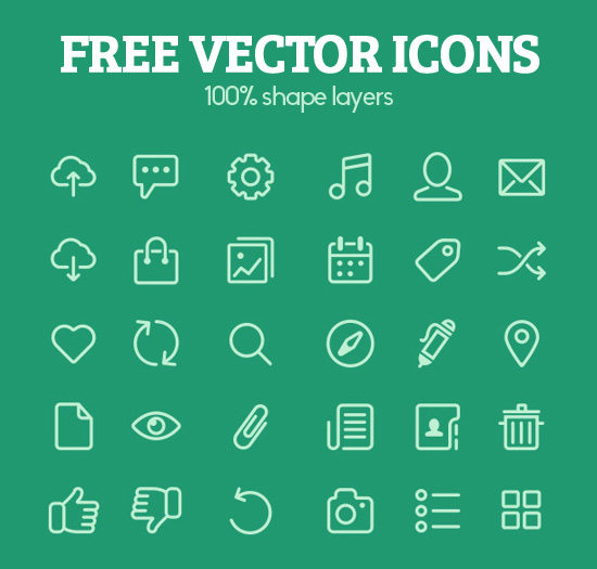 550x525 Free Flat Vector Icons For Ui Design Icons) Icons