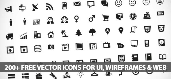 595x275 Free Vector Icons For Ui, Wireframes And Web Design Icons