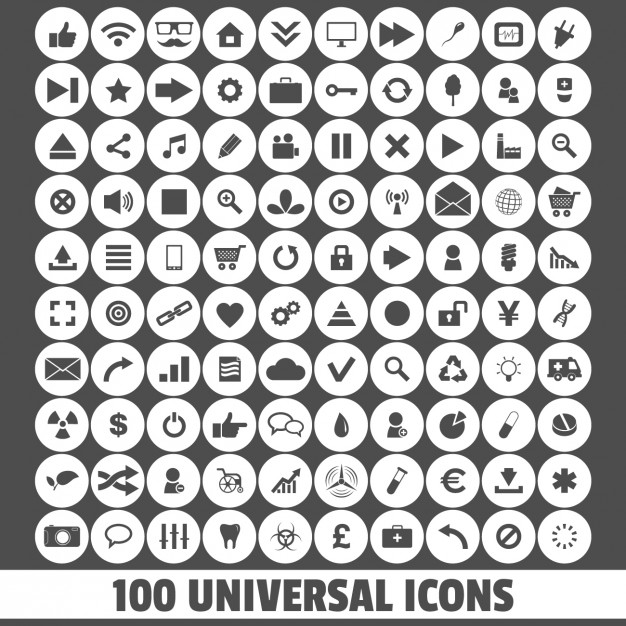626x626 Universal Icons Vector Free Download