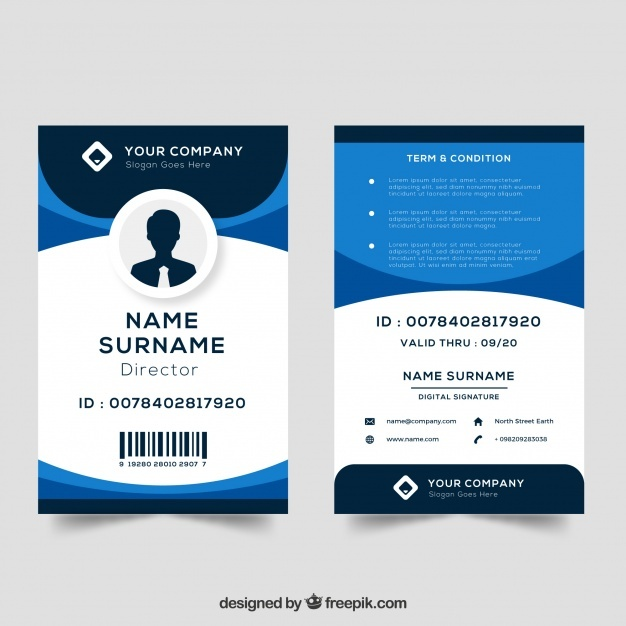 Id Card Vector At GetDrawings