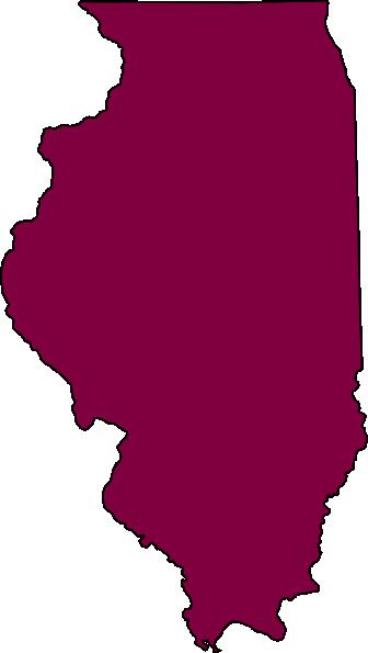 Illinois Outline Vector