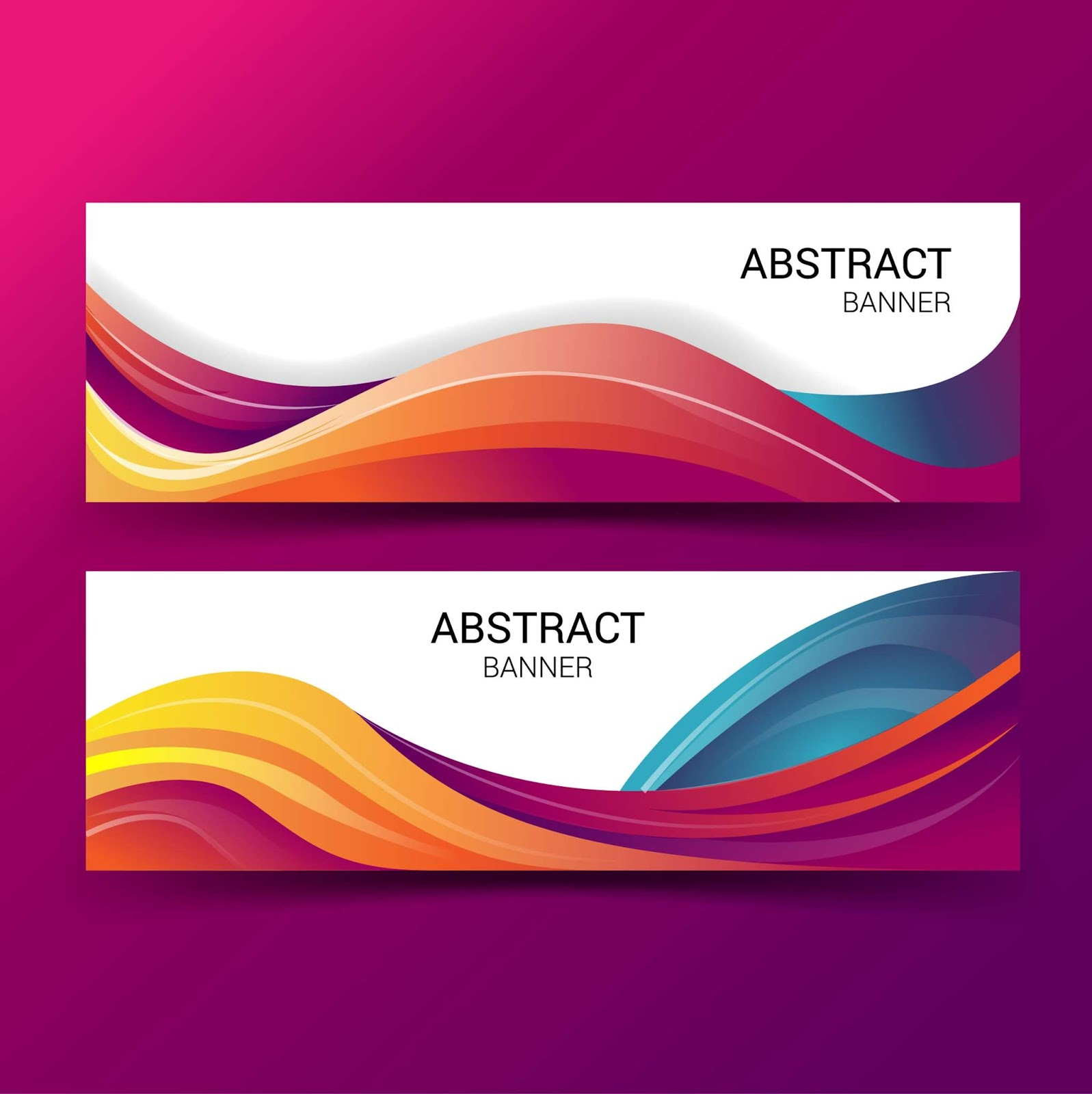 1597x1600 How Make Banner Vector Abstract With Adobe Illustrator