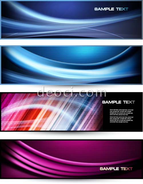500x642 The Dynamic Ripple Banner Vector Template Design Template