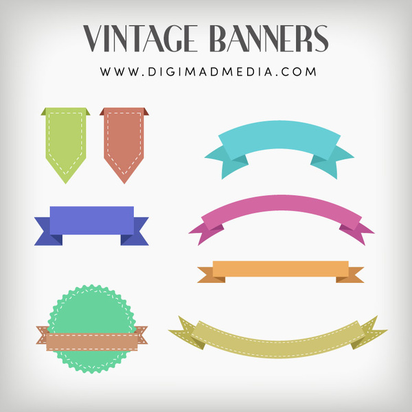 600x600 Vintage Banners Vector Design Free Vector In Adobe Illustrator Ai