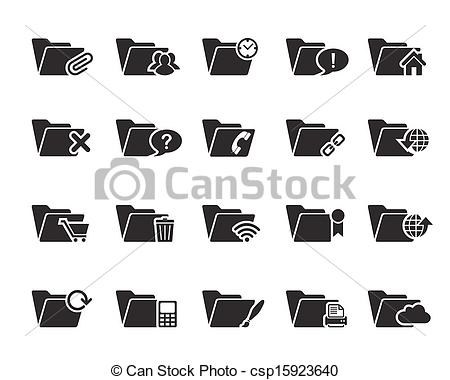 450x380 File N Folder Icons Vector. File And Folder Icons Vector