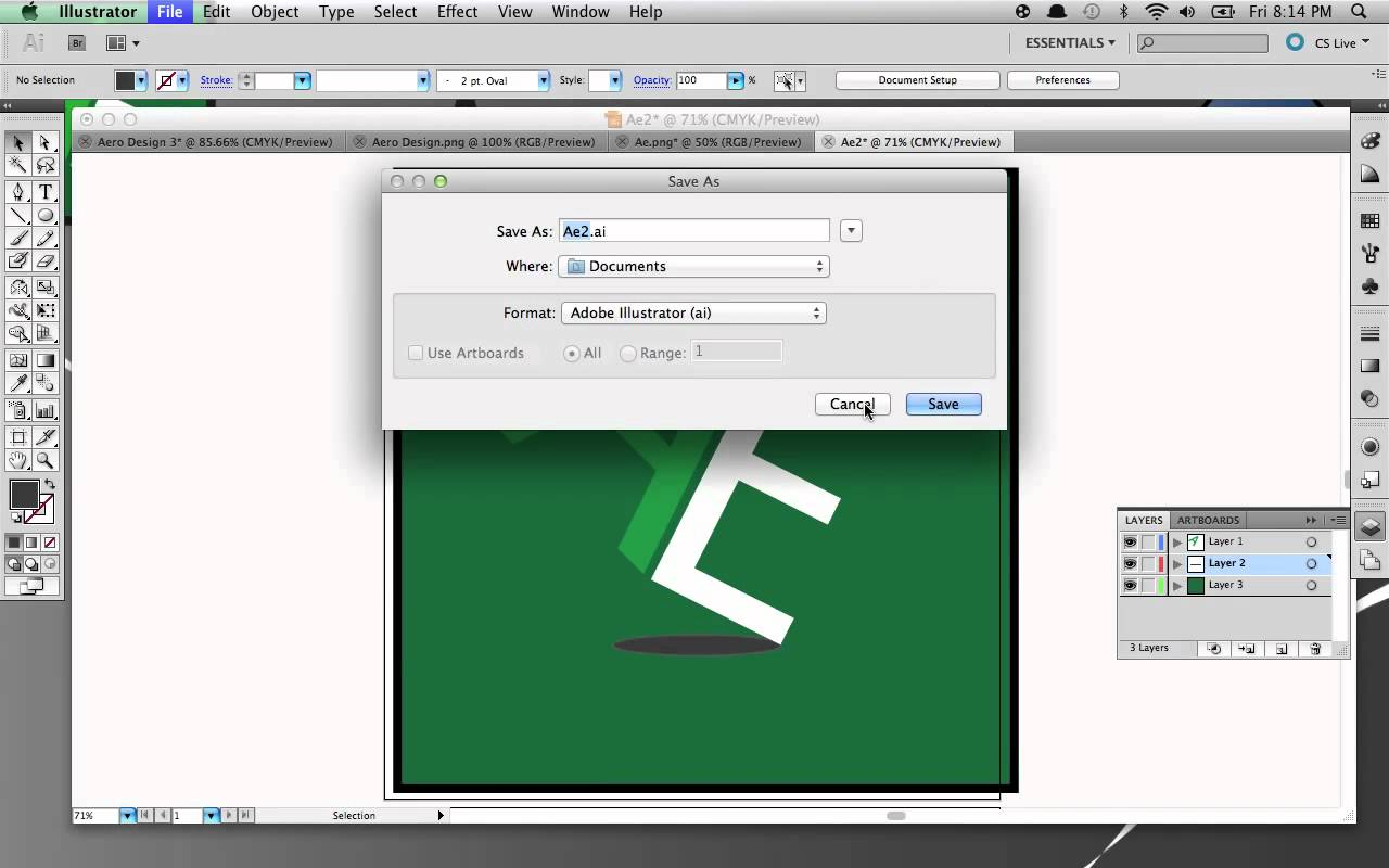 1280x800 How To Save Your Project As A Png File On Adobe Illustrator Cs5
