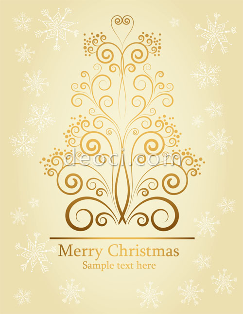 500x644 Vector Christmas Snowflake Background Pattern Design Material