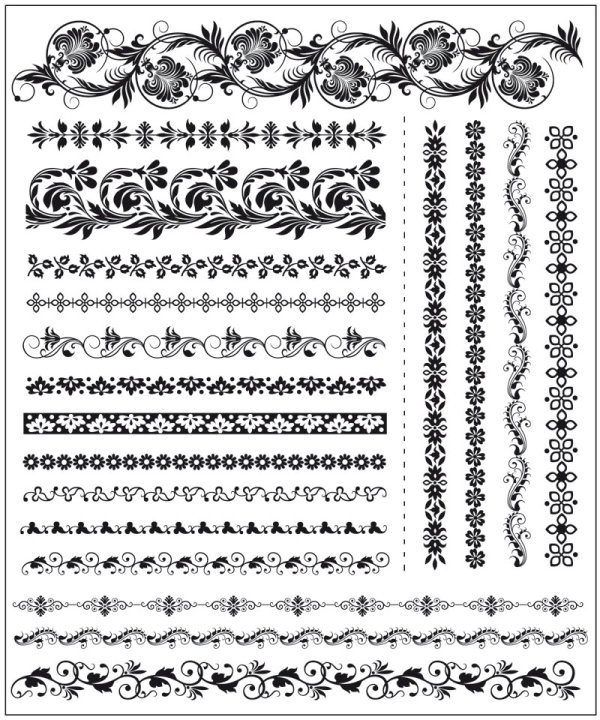 600x720 Free Vector About Corner Lace Pattern For Illustrator Vector