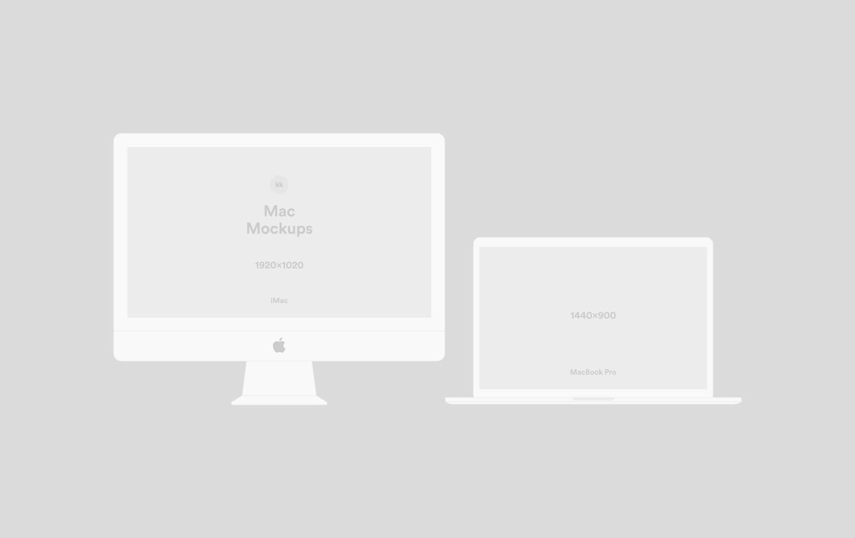 1440x907 Vector Mockups Imac, Macbook, Iphone, Ipad For Sketch Amp Photoshop