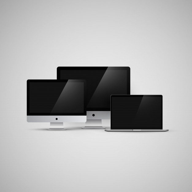 626x626 Imac And Macbook Computers Vector Illustration Mockup Vector
