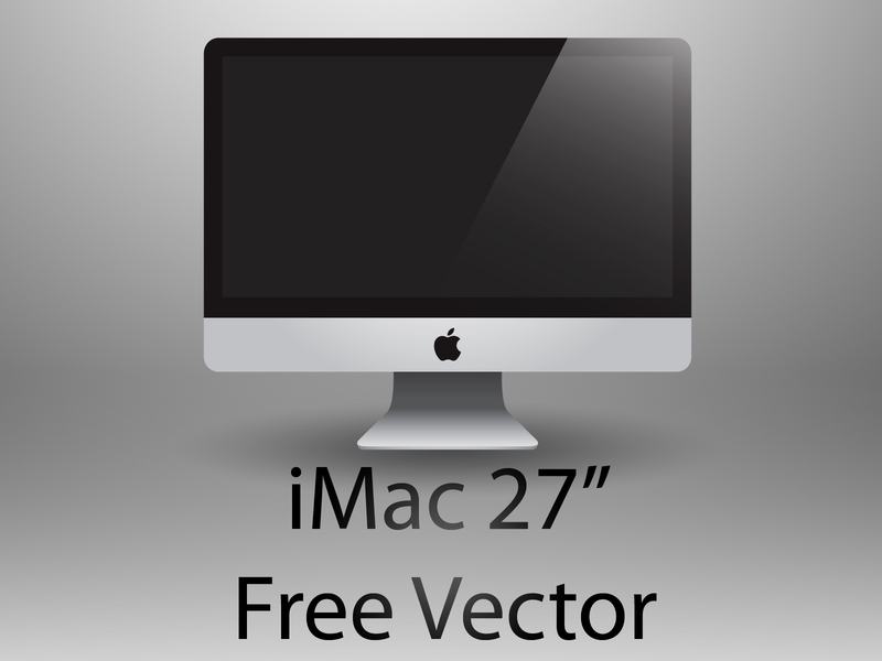 800x600 Free Download Of Imac 27' Free Vector Vector Graphic