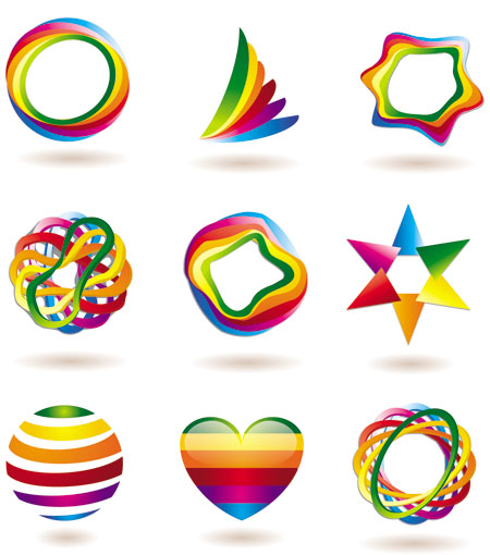 450x510 Imagine Wallpaper Colorful Vector Icons
