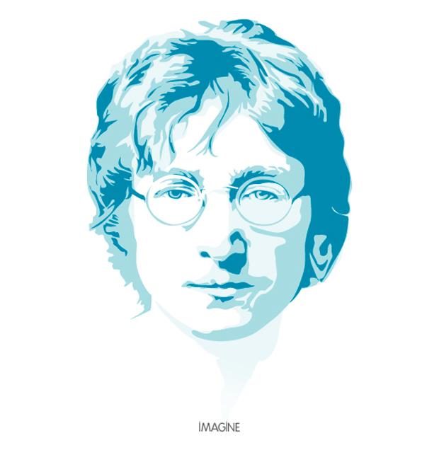 620x636 John Lennon Vector Art Tribute