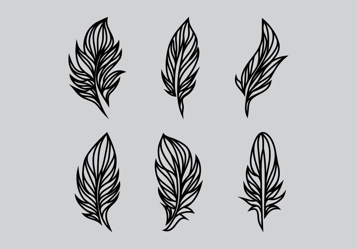 1400x980 Indian Feather Free Vector Art