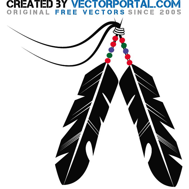 660x660 Indian Feather Stock Free Vector 123freevectors
