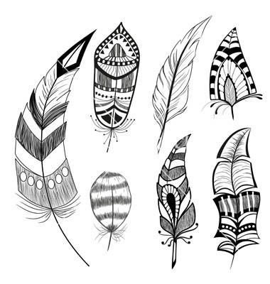 380x400 Indian Feather Vector