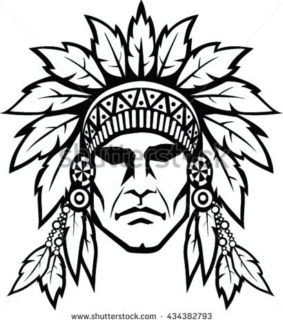 410x470 Collection Of Indian Head Drawing High Quality, Free