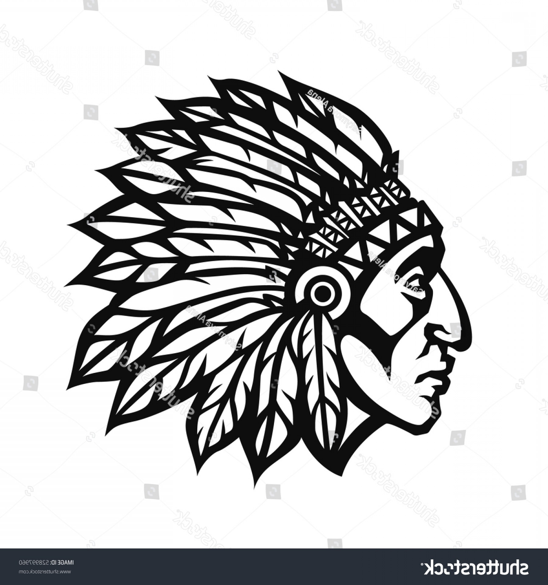 91a4d75e1eb50 Indian Head Vector at GetDrawings.com | Free for personal use Indian ...
