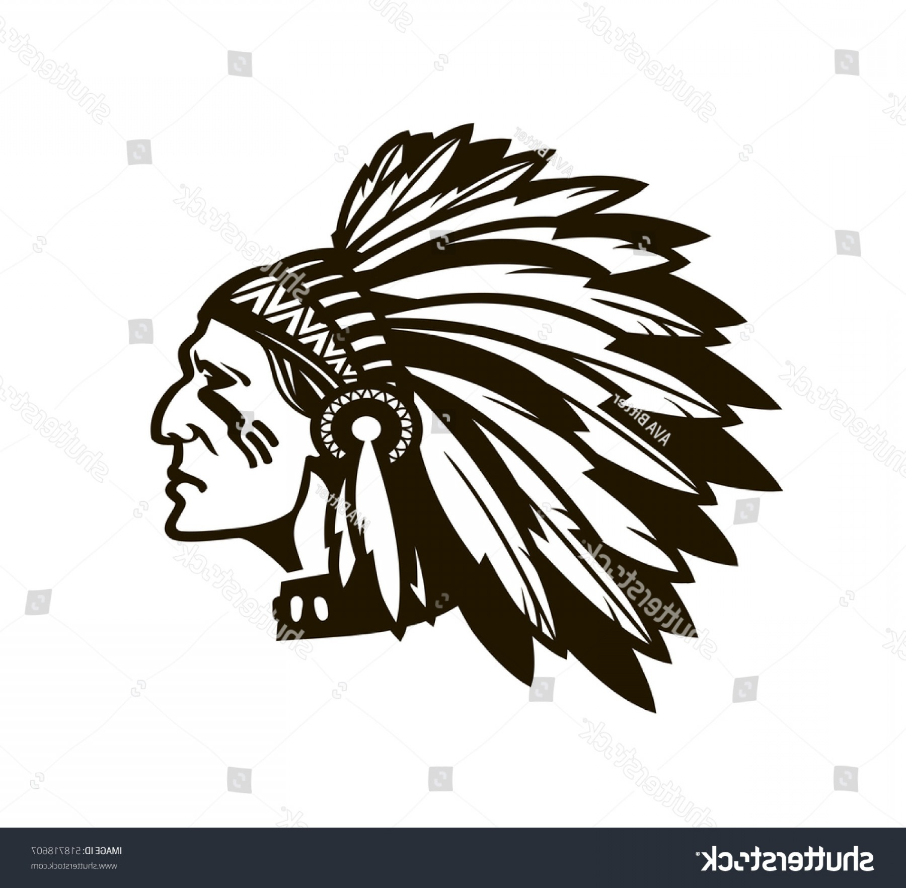 1800x1764 American Indian Chief Logo Icon Vector Lazttweet