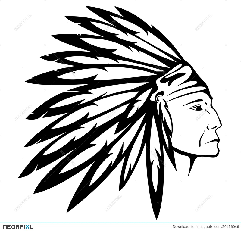 800x767 Native American Indian Chief Vector Illustration 20456049