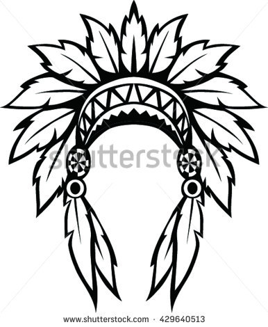 386x470 Native Head Clipart Collection