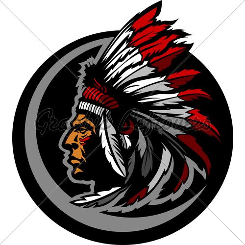 500x500 American Native Indian Chief Mascot Head Vector... Gl Stock Images