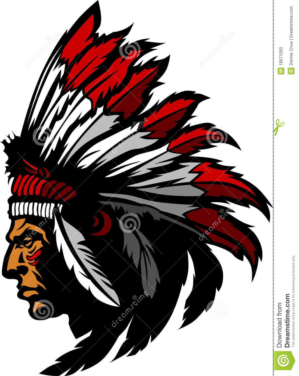 1034x1300 Brave Indian Head Emblem Clipart