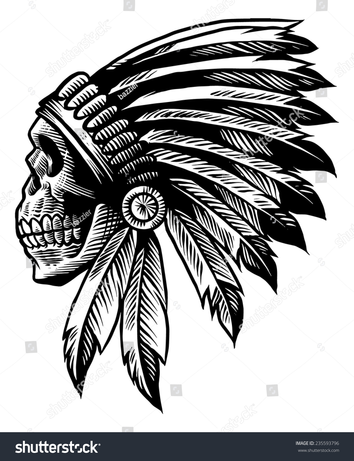 Indian Head Vector Art