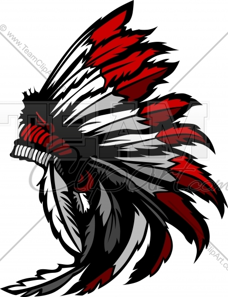 452x590 Indian Headdress Image. Easy To Edit Vector Format.