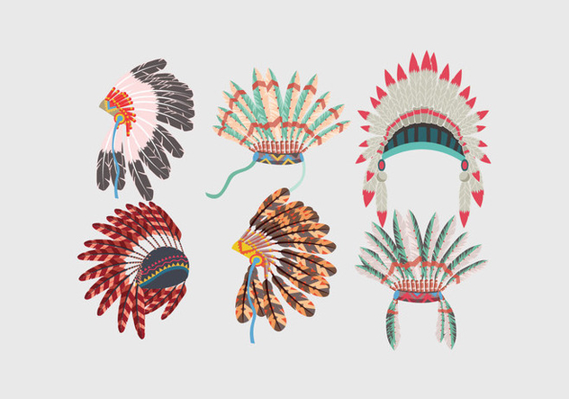 632x443 Indian Headdress Vector Free Vector Download 386069 Cannypic