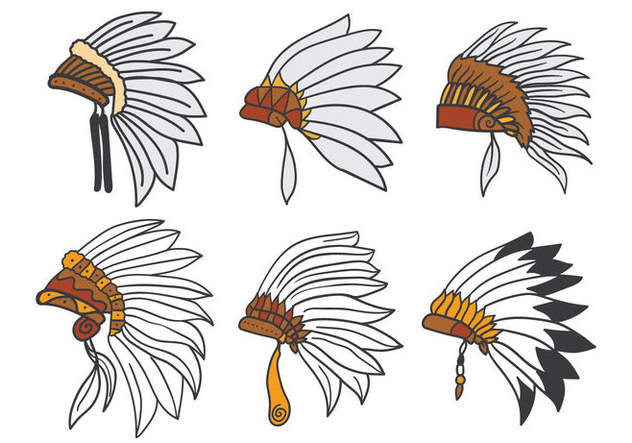 632x443 Indian Headdress Vector Free Vector Download 386249 Cannypic