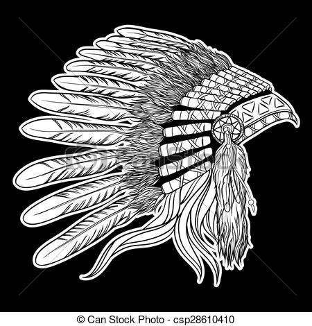 450x470 Native American Clipart Indian Headdress