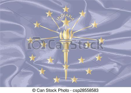 450x319 Indiana State Silk Flag. The State Flag Of The Us State If Indiana.