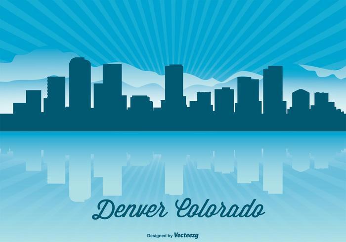 700x490 Denver Colorado Skyline Illustration