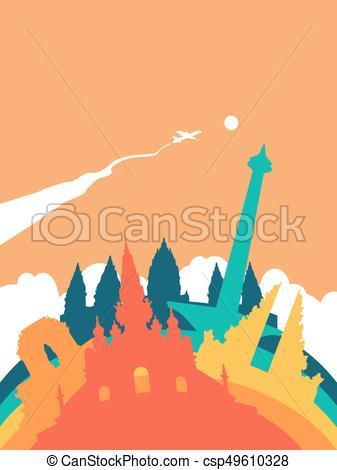 337x470 Travel Indonesia World Landmark Landscape. Travel Indonesia