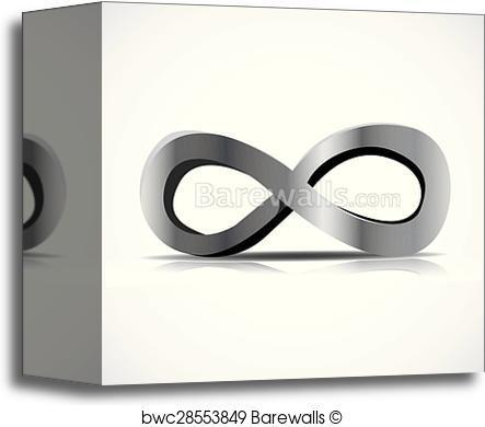 443x390 Canvas Print Of Infinity Symbol Vector Barewalls Posters