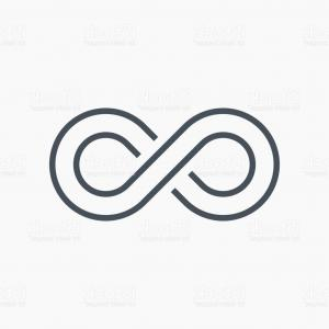 300x300 Infinity Symbol Icons Vector Illustration Unlimited Limitless