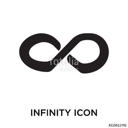 500x500 Infinity Icon Vector Sign And Symbol Isolated On White Background