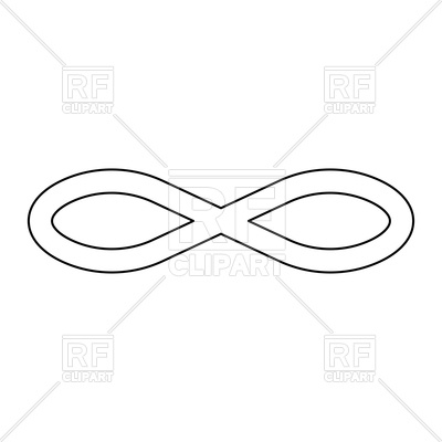 400x400 Infinity Symbol Outline Icon Vector Image Vector Artwork Of