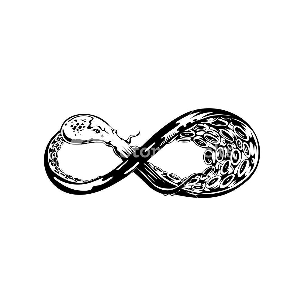 1000x1000 Infinity Symbol Vector Illustration Royalty Free Stock Image