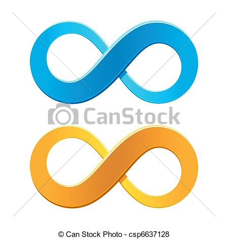 450x470 Infinity Symbol. Vector Illustration Of An Infinity Symbol .