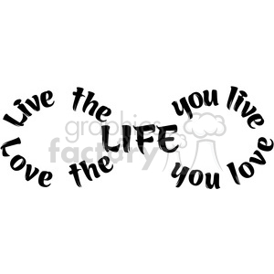300x300 Royalty Free Infinity Symbol Vector Love The Life You Live 392486