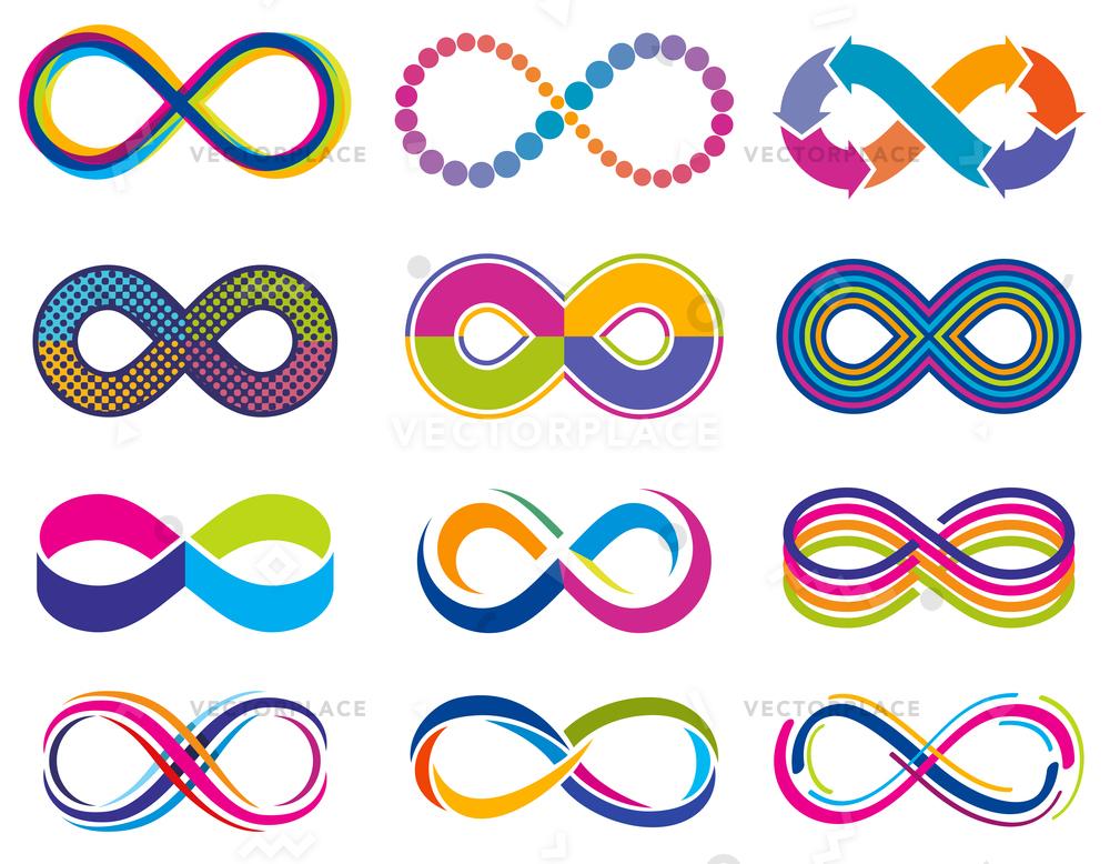 1000x778 Endless Mobius Loop Infinity Concept Symbols Vector Illustration