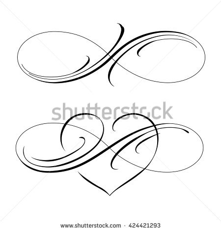 450x470 Collection Of Infinity Love Drawing High Quality, Free